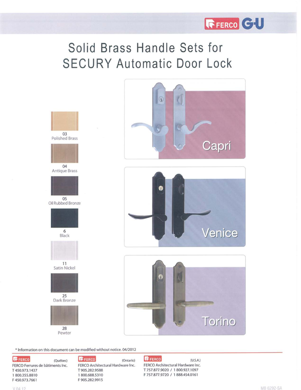 Multipoint Door Hardware