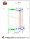 fixed casement vinyl window cross section